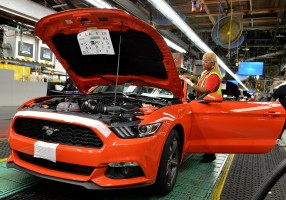 Ford begins production of first Mustang to be sold worldwide
