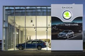 2000 Škoda dealerships in new corporate design
