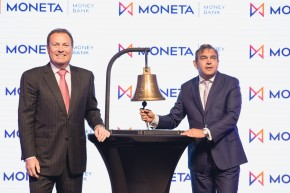 Moneta Money Bank vstoupila na burzu