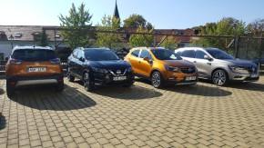 Novináři testovali SUV v Čertousích