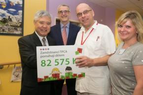 TPCA podpořila děti v kolínské nemocnici