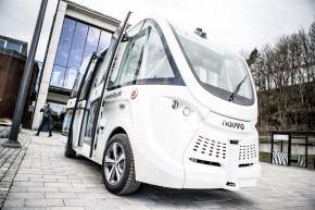 Self-driving buses operate in Gothenburg