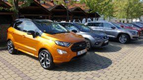 SUV vozy otestovalo v Čertousích 30 novinářů