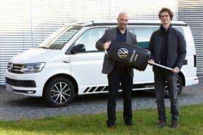 Adam Ondra ve stáji značky VW Užitkové