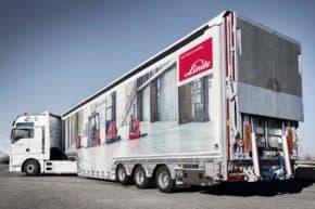 Vozíky Linde vozí ke klientům kamiony C.S. Cargo