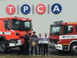 TPCA předala vůz kolínským hasičům