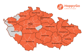 HoppyGo má vozidla již v 70 okresech