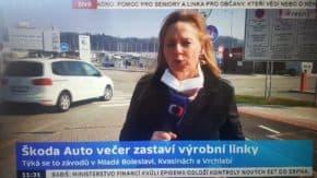 Škoda Auto i kolínská TPCA přerušují výrobu