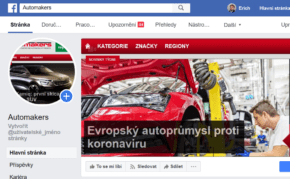 Sledujte boj autoprůmyslu s koronavirem na Facebooku