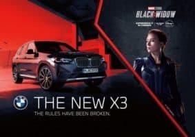 BMW X3 si zahraje ve filmu Black Widow